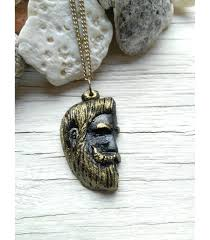 man pendant necklace images Beard man pendant necklace jpg