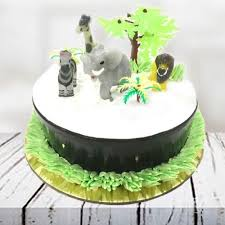 jungle theme cake send jungle theme cake online by giftjaipur in rajasthan