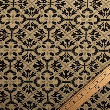 Diamond Upholstery Traditional Georgian Floral Geometric Diamond Tapestry Weave
