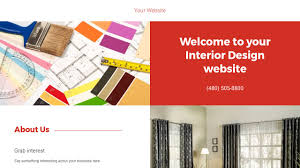 interior design website templates godaddy