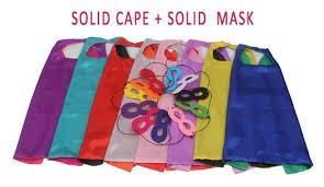 solid cape mask solid superhero cape superhero parties