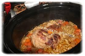 cuisine roti de porc en cocotte rôti de porc flageolets à la mijoteuse les folies de christalie