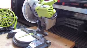 ryobi fan and battery ryobi cordless 18v miter saw fan review youtube
