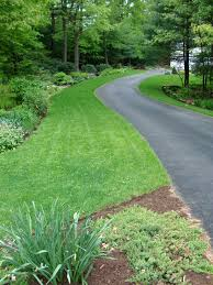 landscaping long driveway ideas and on the near right the