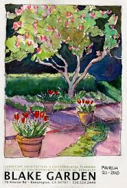 blake gardens tulips tulip trees sketches and paintings jana