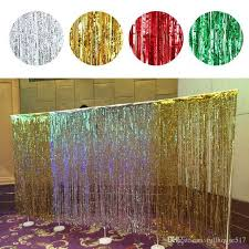 cheap backdrops plastic tinsel foil fringe curtains door window curtain photo
