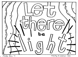 Creation Coloring Pages Let There Be Light Welcome To Grace Light Coloring Page