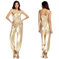 gold jumpsuit 2015 summer rompers womens jumpsuit bronzing camisole stage