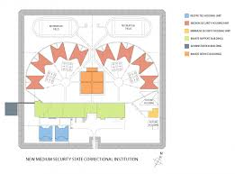 Security Floor Plan Sci Benner Township New Medium Security Facility Usa Architects