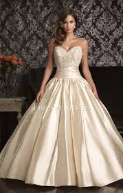 ivory wedding dresses ivory beaded bodice satin gown wedding dress with pleated skirt