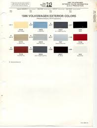 paint chips 1986 volkswagen