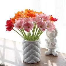 plastic flowers 2017 pu bright 6 colours solar flower plastic flowers vase