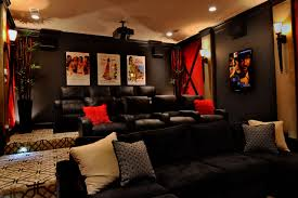 Media Rooms - fort bend classic transitional home theater houston by the