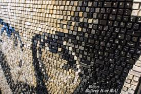 halloween horror nights jobs portrait of steve jobs made of computer keys acquired by ripley u0027s