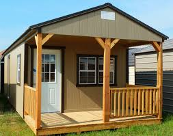 Shed Designs With Porch Storage Cabin Shell