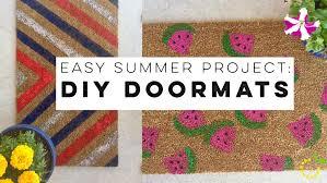 Summer Doormats Easy Summer Project Diy Doormats Sweet Lemon Made