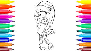 coloring pages strawberry shortcake cherry jam videos for kids