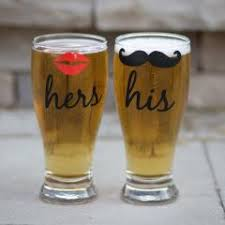 his and hers glassware his and hers glasses 2 with and mustache pilsner