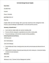 call center sales manager resume call center manager resume job