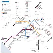 Dallas Metro Map by Rome Map