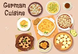 cuisine en allemand cuisine allemande icône avec berliner foie de porc à la pomme la