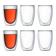 bicchieri bodum bodum pavina wall insulated 12 ounce glasses set of 6