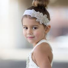 lace headwear hair accessories child baby lace flowers design elastic