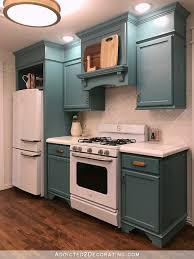 teal kitchen ideas my finished for now kitchen from kelly green to teal before after