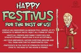 Happy Festivus Meme - happy festivus for the rest of us display an unadorned aluminum
