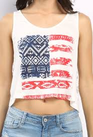 Flag Crop Top American Flag Crop Top Shop Blouse U0026 Shirts At Papaya Clothing