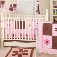 classic pink and brown crib bedding nursery ptimage color of wall