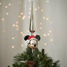 santa mickey mouse glass tree topper shopdisney