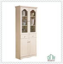 sauder harbor view bookcase with doors antique white furniture antique white bookcase 5 shelf bookcase white pier