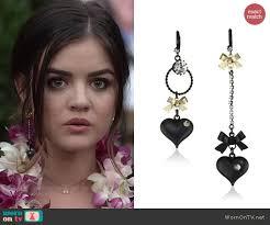 pretty liars earrings wornontv s black ruffled funeral dress on pretty