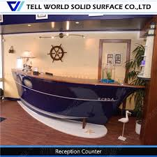 Restaurant Reception Desk Oem Service Acrylic Solid Surface Restaurant Reception Desk