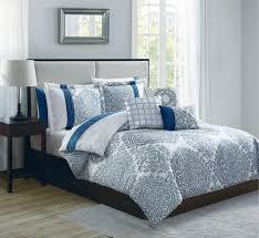 Ivory Comforter Set King 10 Piece Mira Blue Ivory Comforter Set