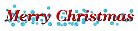 small merry banner for
