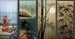 Painted Bamboo Curtains Painted Bamboo Curtains Home Design Ideas And Pictures