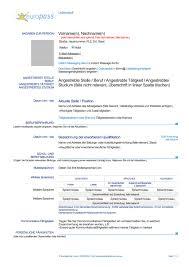 Lebenslauf Vorlage Doc Europass Cv Vorlage Word Starengineering