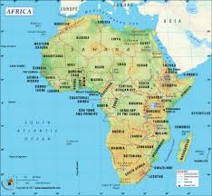 Blank World Map Of Continents by Africa Map With Countries Map Of Africa Clickable To African