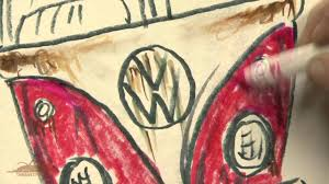 hippie volkswagen drawing how to draw a vw bus the rusty vw youtube