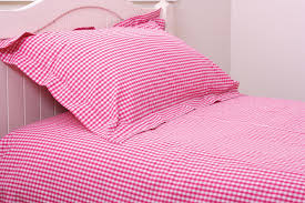 shocking pink gingham duvet covers curtains and pillowcases