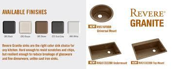 Revere Kitchen Sinks Elkay Revere Extends Line Of Granite Sinks