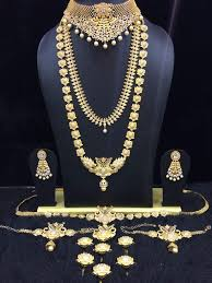 bridal set for rent bridal set lingachari jewellers