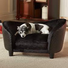 enchanted home pet ultra plush snuggle dog sofa with loft cushion