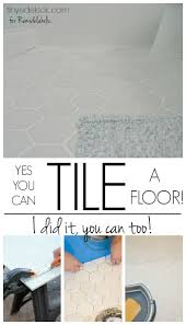 remodelaholic how to tile a bathroom floor