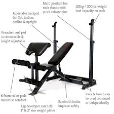 marcy eclipse be3000 weight bench with squat rack arm curl pad