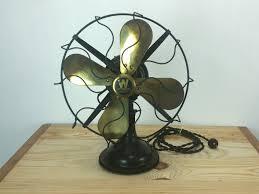 vintage desk fan westinghouse black brass blades reserved for alex