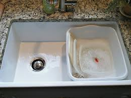 How To Clean Kitchen Sink by Our Farmhouse Sink Tips To Clean And Care For Porcelain Sinks