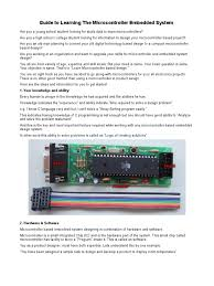 avr microcontrollers guide to learning the microcontroller